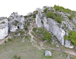 nature zborow mountains hd 3D model