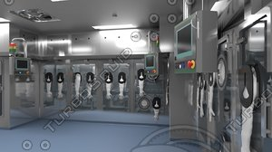3D pharmaceutical isolator filling line