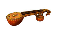 lute indian instrument 3d model