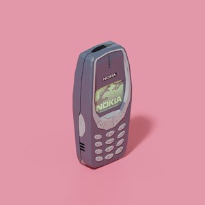 3D nokia 3310 mobile phone