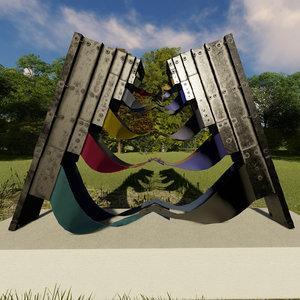 3D sculpture fiesta andina model