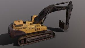 crawler excavator ec460b 3D