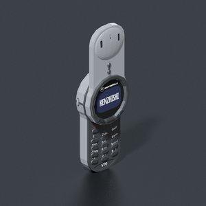 3D motorola v70 mobile phone