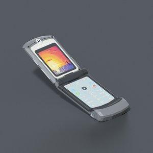 3D motorola razr v3 mobile phone
