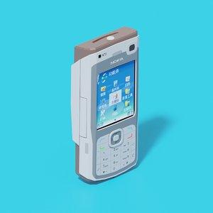 nokia n70 mobile phone 3D