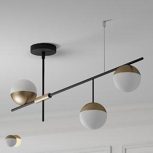 century modern 3 light model