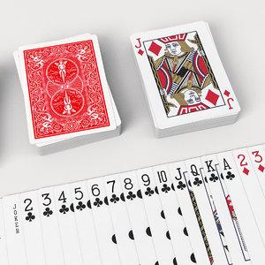3D set poker card model