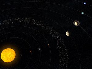 solar planets sun 3D