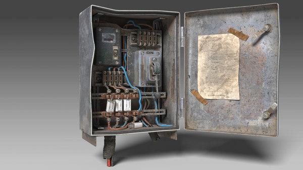 Old electric fuse box 3D model - TurboSquid 1554357TurboSquid