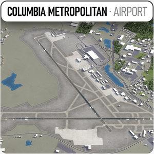3D airport columbia model