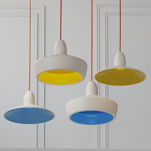 3D model ceiling crowdyhouse spun pendants
