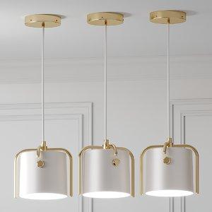 3D ceiling nordic drum shade