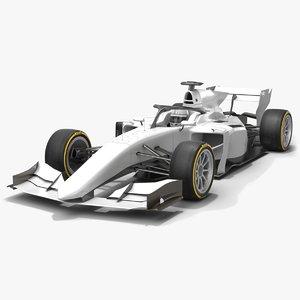 3D model formula 2 dallara f2