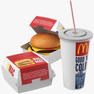 real food burger 3D model