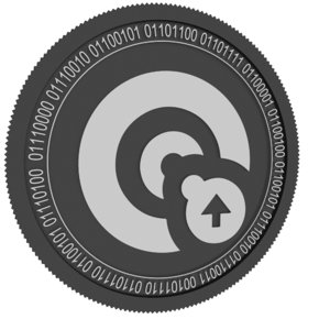 3D opacity black coin model