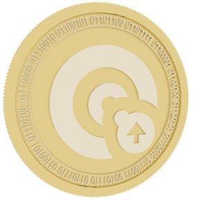 opacity gold coin 3D