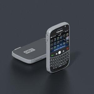3D blackberry 9000 mobile phone model