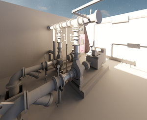 3D protection pump room
