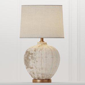 table cox ceramic lamp 3D model
