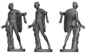 3D model roman statue sculpture apollo