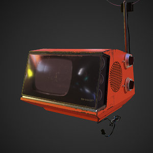 retro television old tv 3D model