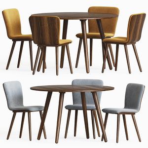 sede dining chair table 3D