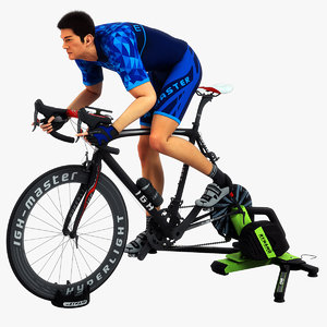 animations cyclist 3D