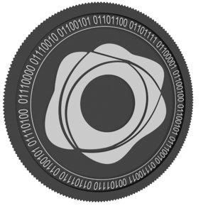 pax gold black coin 3D model