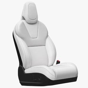 3D model seat tesla