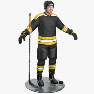 3D pbr hockey player model