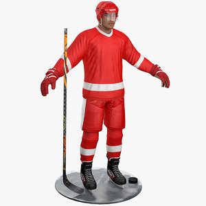 pbr hockey player 3D