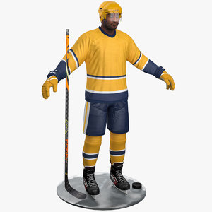 pbr hockey player 5 3D model