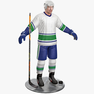 3D pbr hockey player 6