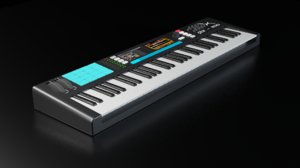 3D model midi keyboard hexone