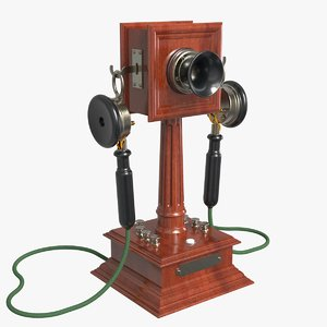 3D model antique phone wich