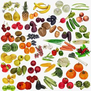 mega fruit vegatable 50 3D