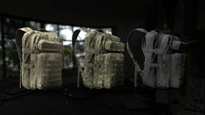 3D tactical backpack 3 color