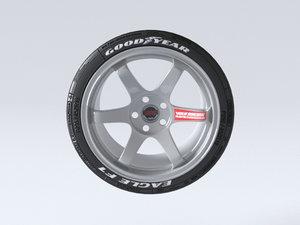 volk racing wheels te37 3D model