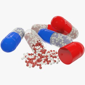 3D pill medicine drug model