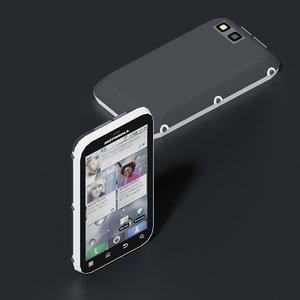 3D motorola me525 defy mobile phone