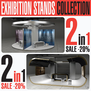 3D exhibition expo stands model