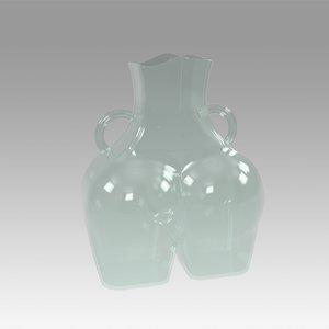 3D model vase womens hips