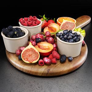 fruits set 02 3D model