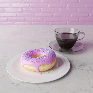 3D donut blender model