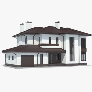 contemporary country house 3D
