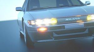 nissan s13 silvia car 3D model