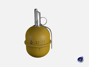 rgd-5 grenade 3D model