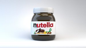 nutella chocolate label 3D model
