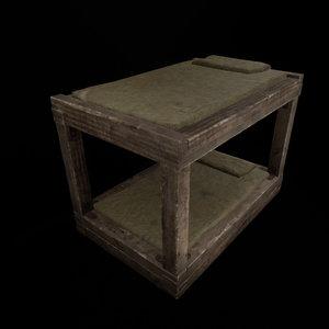 medieval bunkbed 3D model