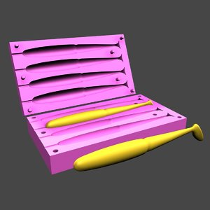 swimbait mold 3D model